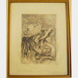 Pierre-Auguste Renoir (French, 1841-1919)      Le Chapeau Epingle (3e planche)