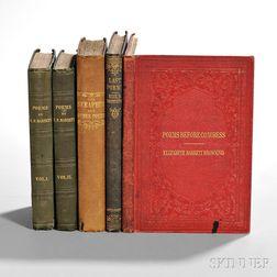 Browning, Elizabeth Barrett (1806-1861) Four First Editions.