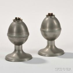 Pair of Pewter Lamps