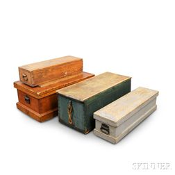 Four Wooden Chests