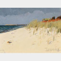 Hillary Osborn (American, b. 1965)      Storm at Saconeset Beach, West Falmouth