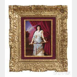 KPM Porcelain Plaque Depicting a Gypsy Woman