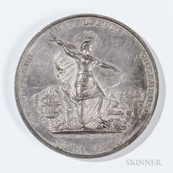 Silver New York Regiment of Volunteers in Mexico Medal Presented to First Sergeant Robert McVey