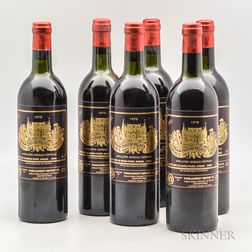 Chateau Palmer 1978, 6 bottles