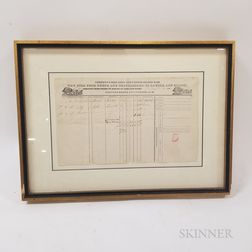 Framed Citizen's Union Line and United States Mail Waybill