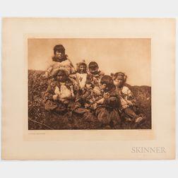 Nine Edward Sheriff Curtis Photogravures, c. 1914 to 1928.