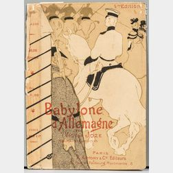After Henri de Toulouse-Lautrec (French, 1864-1901)      Book Cover: Babylone d'Allemagne
