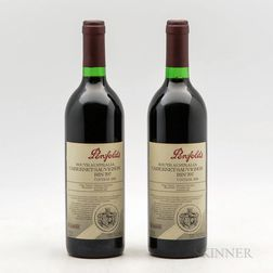 Penfolds Cabernet Sauvignon Bin 707 1996, 2 bottles