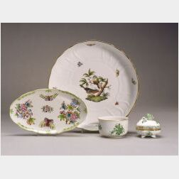 Eight Herend Porcelain Table Items