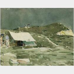 Childe Hassam (American, 1859-1935)  Beal's Camp, Montauk