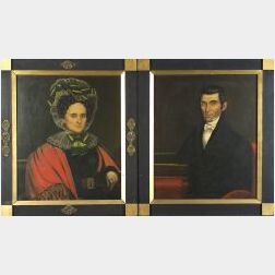 Pair of Portraits of Mr. and Mrs. Rufus Kendall