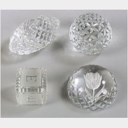 Four Waterford Paperweights
