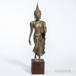 Gilt-bronze Statue of a Standing Buddha