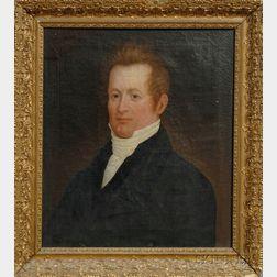 Attributed to Zedekiah Belknap (American, 1781-1858)      Portrait of Lyman Bradstreet Walker  (1785-1857)