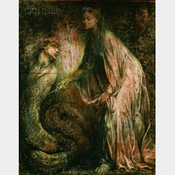 John LaFarge (American, 1835-1910)      The Enchantress