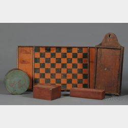 Group of Five Assorted Wooden Items