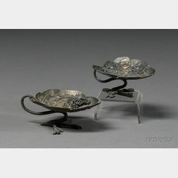 Pair of Mixed Metal Footed Dishes