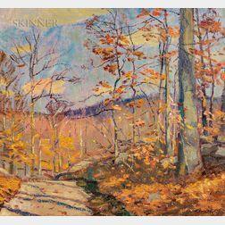 Robert Emmett Owen (American, 1878-1957)      Windy Afternoon in Autumn
