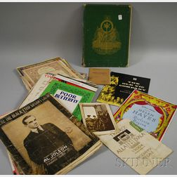 Group of Mostly Early 20th Century Illustrated Sheet Music and an Edwin Booth Theater Characters Book.