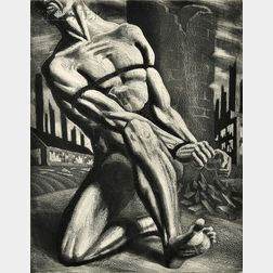 Harry Sternberg (American, 1904-2002)      Enough (Bound Man)