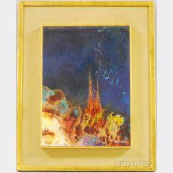 Leonardo M. Nierman (American, b. 1932)      Golden Castle