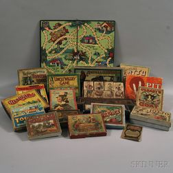 Group of Sixteen Mostly Late 19th/Early 20th Century Games