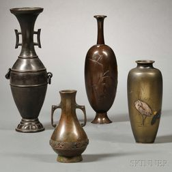 Four Bronze Vases
