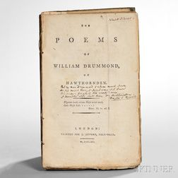 Browning, Elizabeth Barrett (1806-1861) Her Copy of Drummond's Poems, Signed.