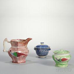 Three Pieces of Spatterware