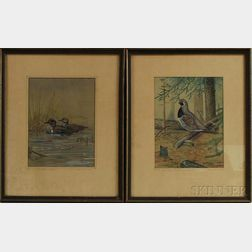 Two Framed Paintings of Wild Foul