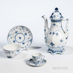 "Group of Royal Copenhagen ""Blue Fluted"" Pattern Porcelain Tableware"