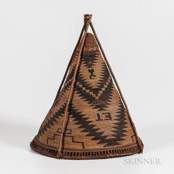 Northern California Twined Burden Basket