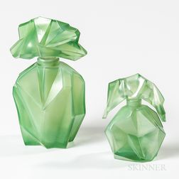 Ruba Rombic Art Glass Bottles by Reuben Haley (1872-1933) for Consolidated Lamp and Glass Co.