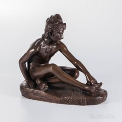 After Francois Rude (French, 1784-1855)    Bronze Figure of a Young Neapolitan Fisherman