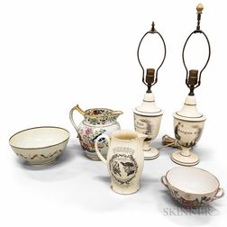 Six Ceramic Tableware Items