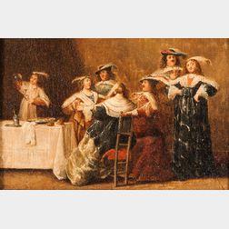 Manner of Dirck Hals (Dutch, 1591-1656)      Elegant Company