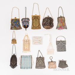 Fourteen Small Vintage Purses and Coin Purses