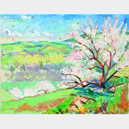 John Dana Bashian (Jamaican/American, 1897-1975)      Lot of Two Views of Apple Orchards