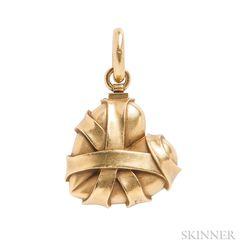 18kt Gold Heart Pendant, Barry Kieselstein-Cord