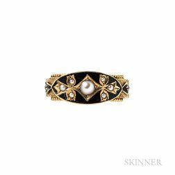 Victorian 15kt Gold Memorial Ring