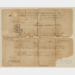 Two Massachusetts Pre-Revolutionary War Documents