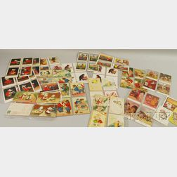 Lot of Mostly Early 20th Century Children Series and Fifty-four Bear Postcards