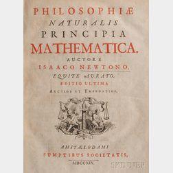 Newton, Sir Isaac (1642-1727) Philosophiae Naturalis Principia Mathematica