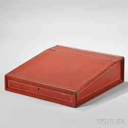 Red-painted Poplar Lap Desk