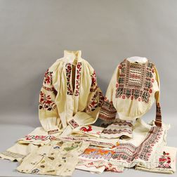 Group of Russian Embroidered Linens