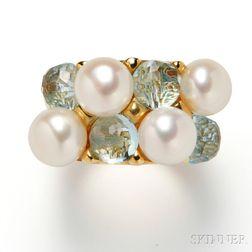 18kt Gold Gem-set Ring, Mimi