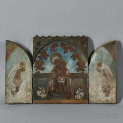 French School, 19th/20th Century      Madonna and Child Triptych