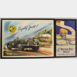 Framed MG and Butter-nut Bread Posters