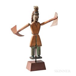 Carved and Painted Indian Chief Whirligig