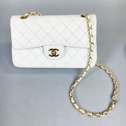 Chanel White Leather Handbag